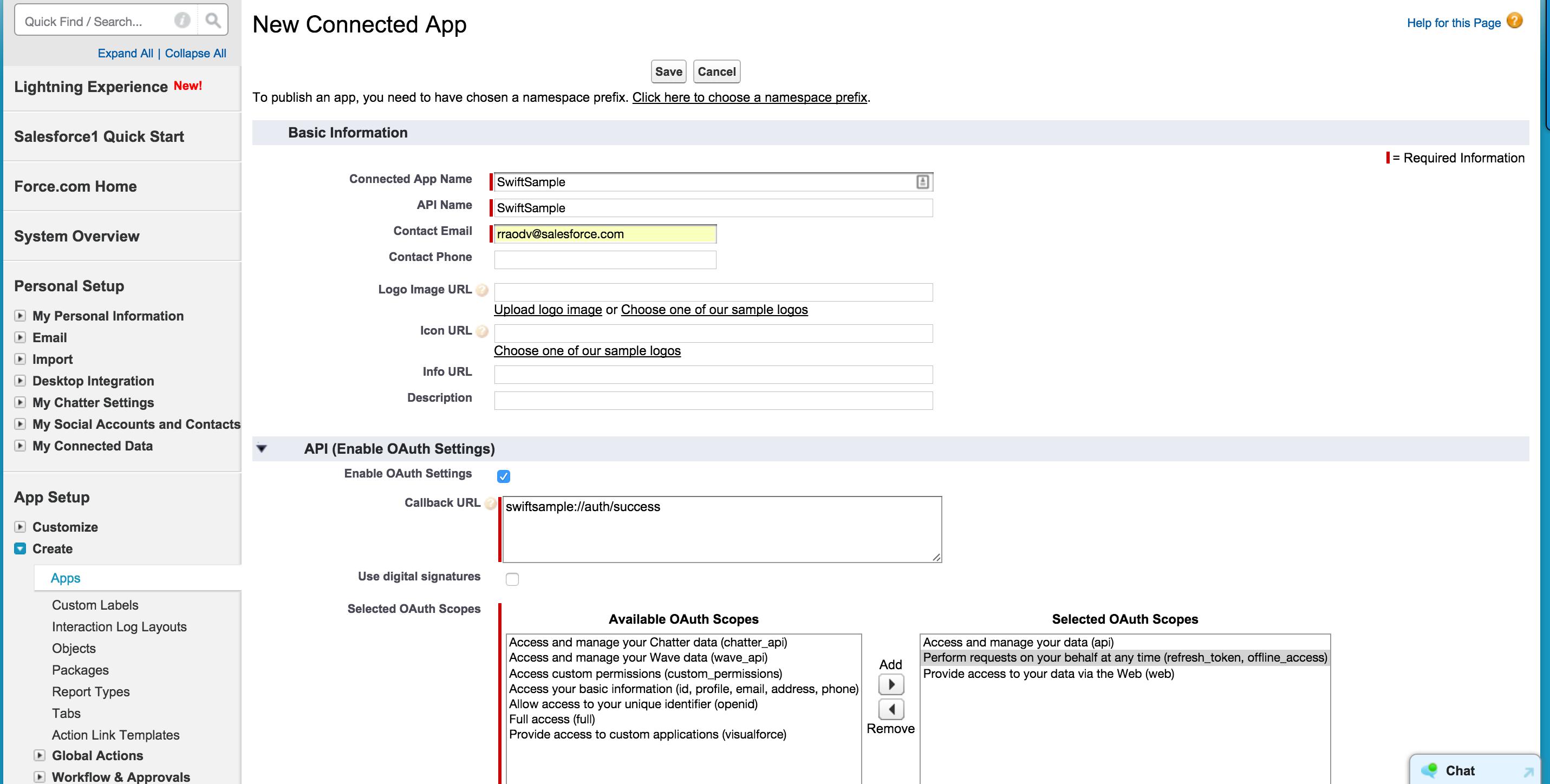 Salesforce Mobile SDK: Swift Tutorial